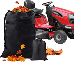 Lawn Tractor Leaf Bag, YUIO 54 Cubic Foot Opening Garden Lawn Mower for Fast & Easy Garden Leaf Collection,Heavy Duty Material-Universal Fit Leaf Bag