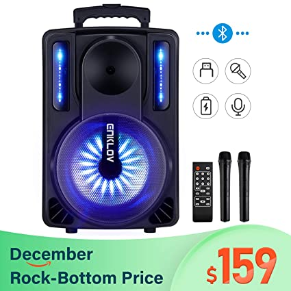Amazon.com: Máquina de karaoke, ENKLOV sistema de altavoces ...