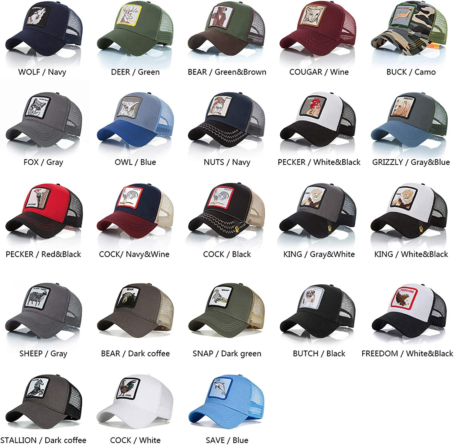 Baseball Cap Fashion Unisex Mesh Cap Animal Baseball Hats Men Women Commuting Outdoor Travel Hats