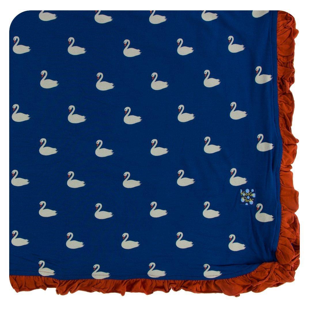 Kickee Pants SLEEPWEAR ベビーガールズ One Size Navy Queen's Swans B07FZGWZHV