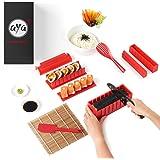 Sushi Making Kit - AYA Sushi Maker 2 - Online Video Tutorials Complete with Sushi Knife & Bamboo Mat - 12 Piece Sushi Set - E
