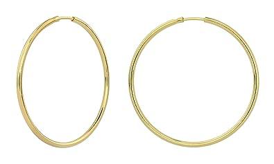 4f26317c9636b ARLIZI Women 925 Silver Gold Plated Hoop Earrings 1552: Amazon.co.uk ...