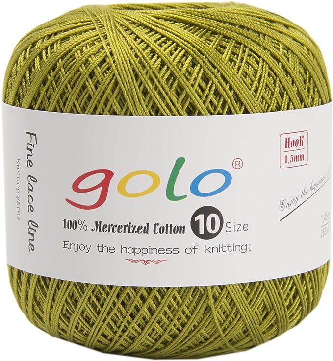 Amazon Com Golo Crochet Thread Yarns For Begingers Size10 Army Green Knitting Yarn Arts Crafts Sewing