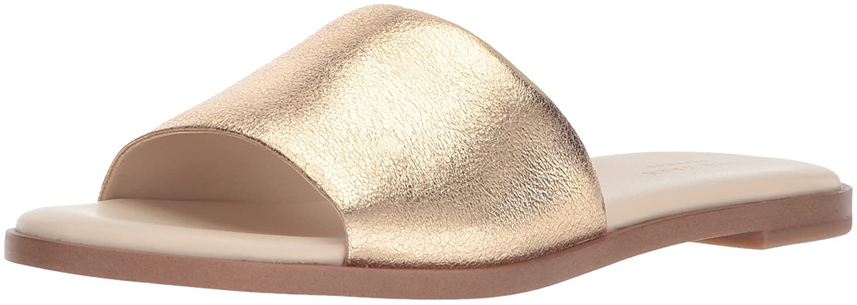 gold Metallic Cole Haan Womens Anica Slide Sandal Slide Sandal