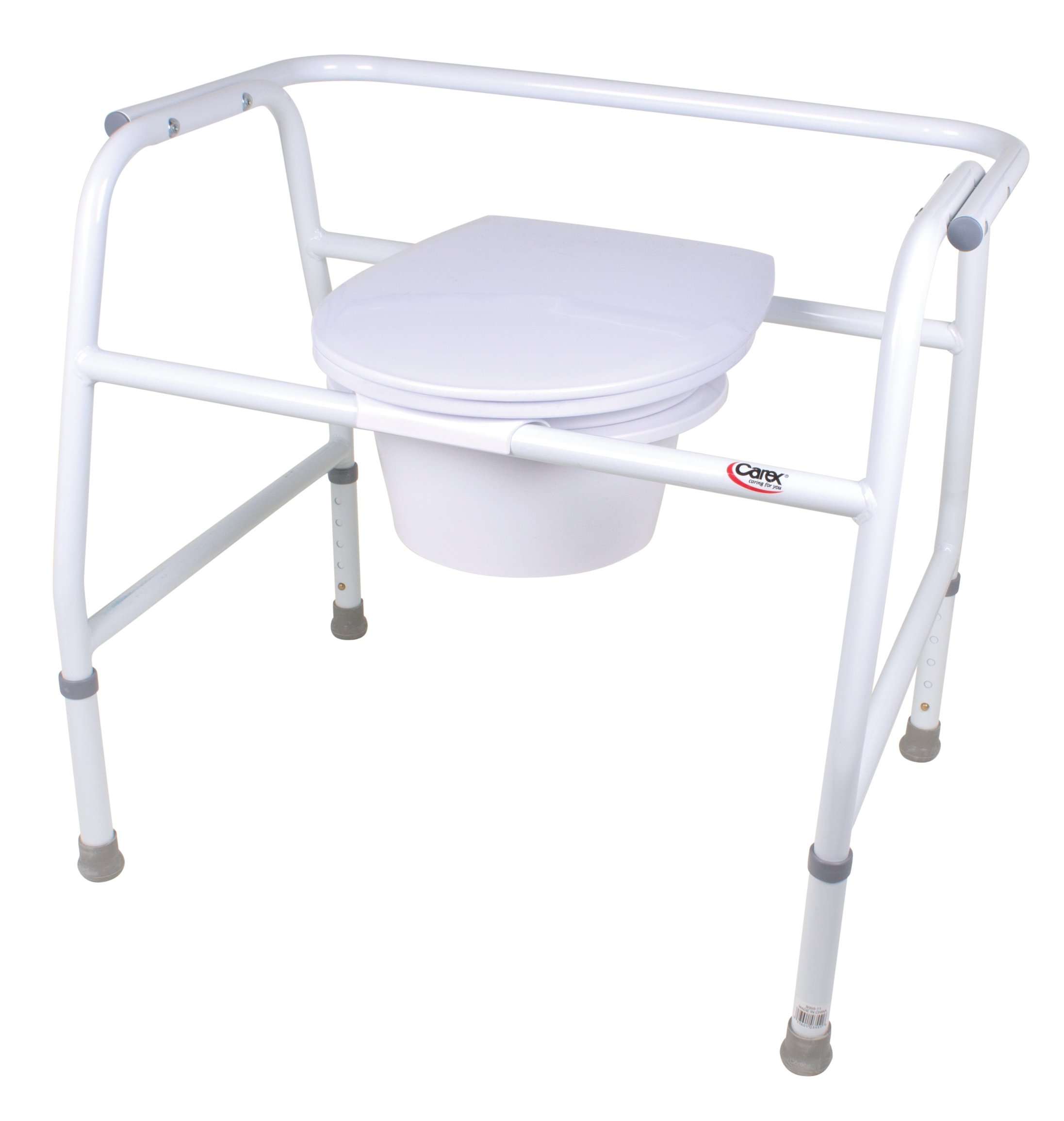 Carex Health Brands Extra Wide Steel Commode