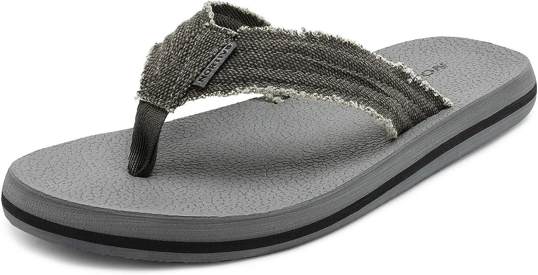 NORTIV 8 Mens Thong Flip Flops Sandals Comfortable Light Weight Beach Sandal
