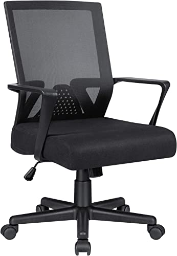 Office Chair Ergonomic Lumbar Support Desk Mesh Computer Chair Mid Back Swivel Chair