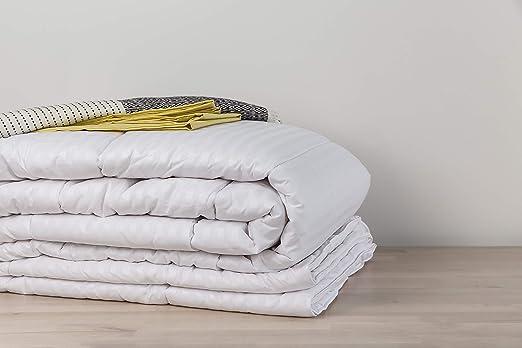 Snuggledown escandinavo colchón Topper, Microfibra, Blanco, Doble: Amazon.es: Hogar