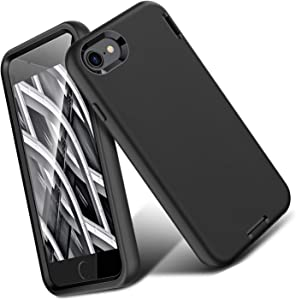 ORIbox Liquid Silicone iPhone 8 Plus Case & iPhone 7 Plus Case, Soft-Touch Finish of The Liquid Silicone Exterior Feels, No Regret Case for iPhone 8 Plus & iPhone 7 Plus for Women & Men, Black