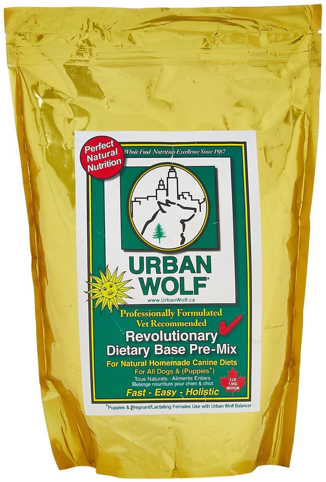 Urban Wolf Dog Food Mix - Dietary Base Mix - 3 Lb