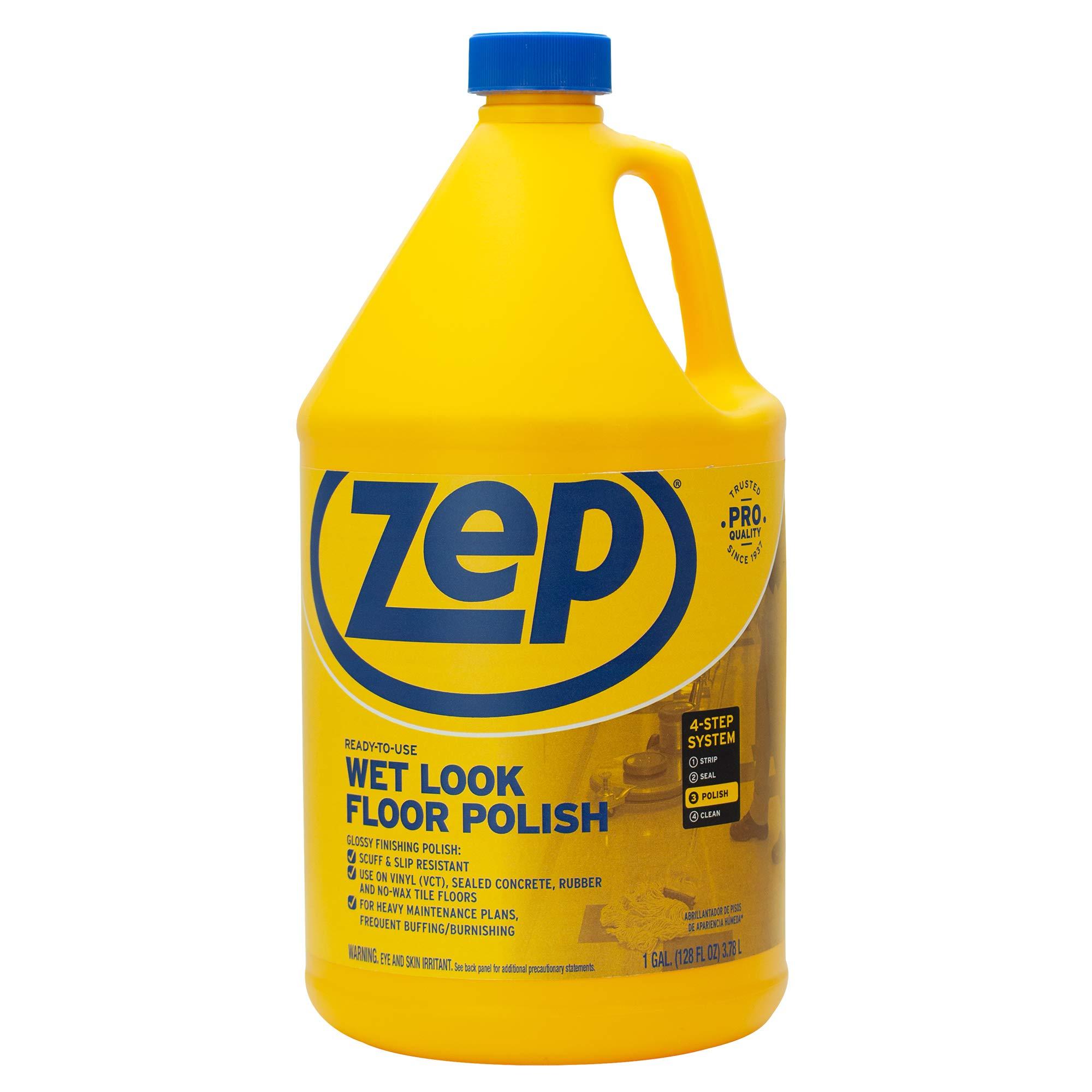 Zep Commercial 1044898 Wet Look Floor Polish, 1 gal Bottle by Zep