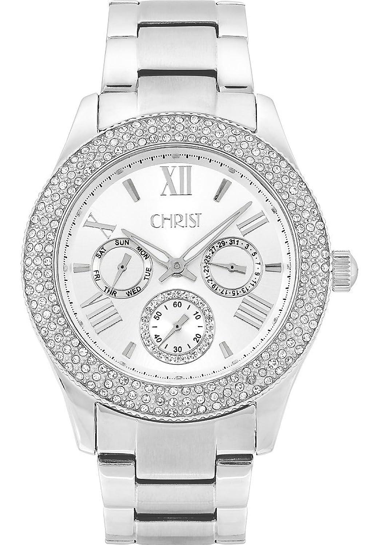 CHRIST times Damen-Armbanduhr Analog Quarz One Size - silberfarben - silber