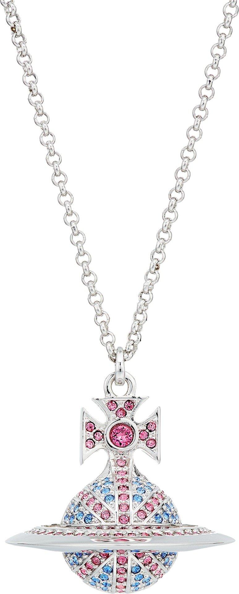 Vivienne Westwood  Men's Jack Orb Pendant Necklace Rose/Sapphire/Rhodium One Size