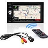 BOSS Audio Systems BVNV9384RC Car GPS Navigation and DVD Player - Double Din, Bluetooth Audio and Calling, 6.2 Inch LCD Touchscreen Monitor, MP3 CD DVD USB SD, Aux-in, AM FM Radio Receiver