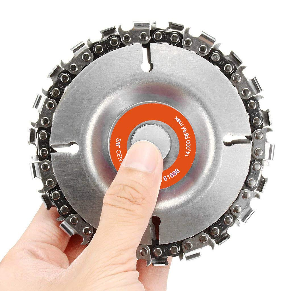 Transer' 4 Inch Grinder Disc and Chain 22 Tooth Fine Cut Chain For 100/115 Angle Grinder Transer'