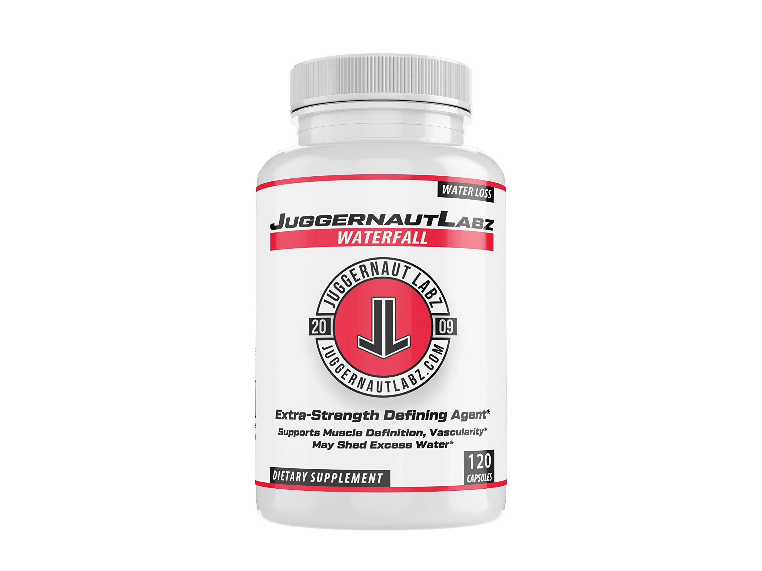 Juggernaut Labz WaterFALL - Extra Strength Defining Agent to Help Shed Water from Under Skin - Lose Weight & Lessen Cramping - Supports Vascularity & Muscle Definition