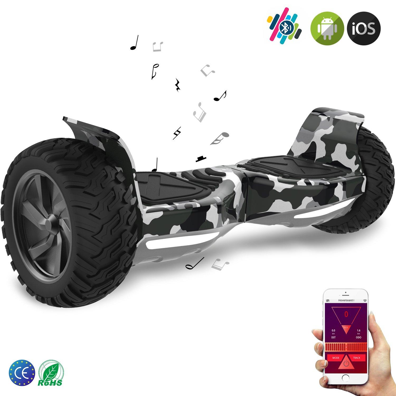 Double Hunter Hoverboard 8.5 Pulgadas, Patinete Eléctrico Inteligente Balance Board Hummer SUV 2 x 350W Bluetooth App