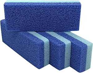 Foot Pumice Stone for Feet Hard Skin Callus Remover and Scrubber (Pack of 4) (Blue)
