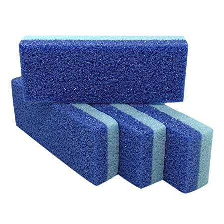 Foot Pumice Stone for Feet Hard Skin Callus Remover and Scrubber (Pack of 4) (Blue)   Amazon