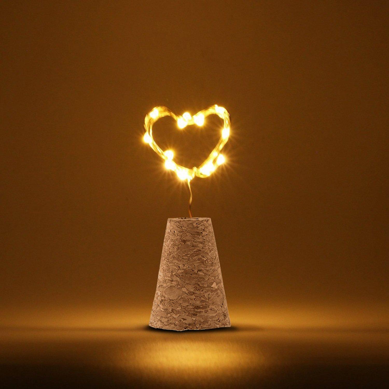 KOBWA LED String Lights, Wein Flasche Kork Beleuchtung 15 LED ...