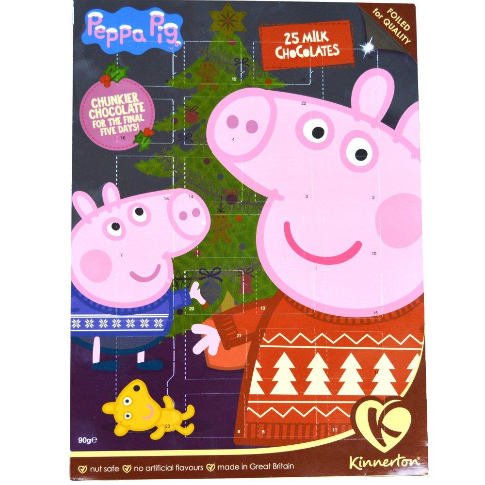 Amazon.com : Kinnerton - Peppa Pig Milk Chocolate Advent Calendar ...