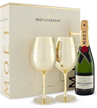 Moet & Chandon Imperial Champagne Gold Gift Set