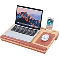 MIZUSO Laptop Lap Desk, Lap Desk for laptop with Mouse Pad & PU Leather Wrist Pad & Heat Dissipation , Home Office…