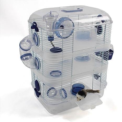Jaula grande para hámster de plástico transparente, con 2 o 3 ...