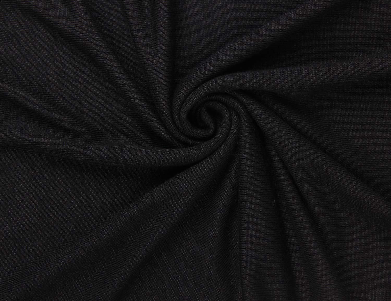 Blooming Jelly Women\'s Oversized Jumper O Neck Long Sleeve Top Asymmetric High Low Knit Sweater (Black, S=UK6/8)