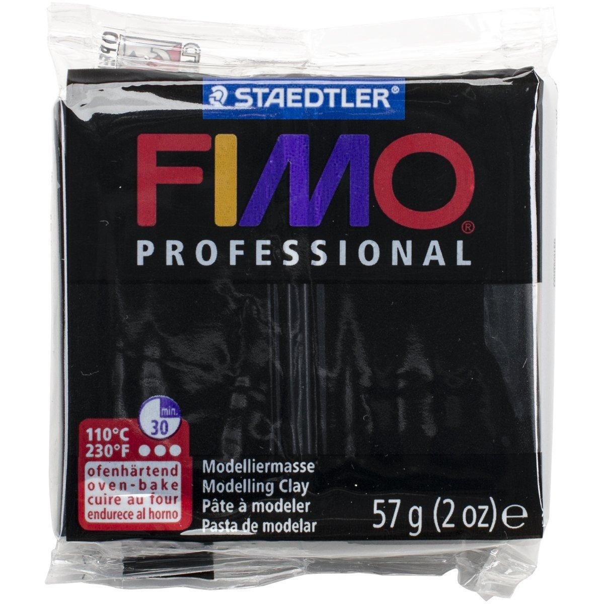 Staedtler Fimo Professional Soft Polymer Clay, 2 oz, Black EF8005-9