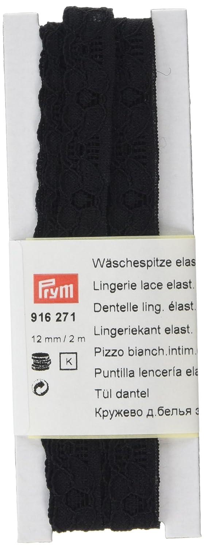 Prym-Lingerie misto elasticizzato in pizzo, in poliestere, colore: nero, 12 mm, 2 m PRYM_916271-1
