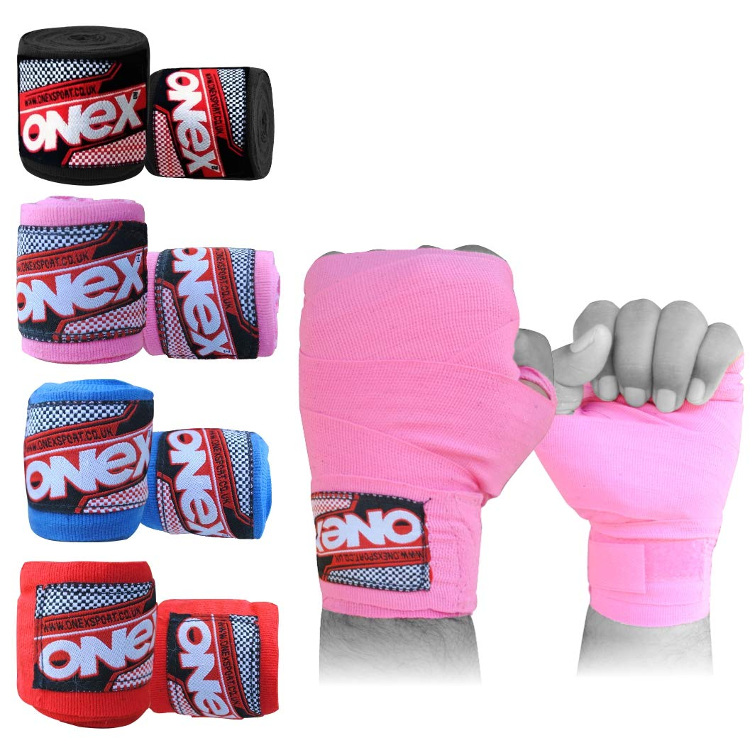 Training Combat Sports Martial Arts Onex Boxing Hand Wraps Inner Gloves Bandages Knuckle Guards for Muay Thai Kickboxing Punching Bag /& Sparring Men /& Women