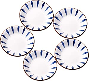 Set of 5 Ceramic Sauce Dish, Soy Sauce Dipping Bowls Appetizer Plates Side Dishes
