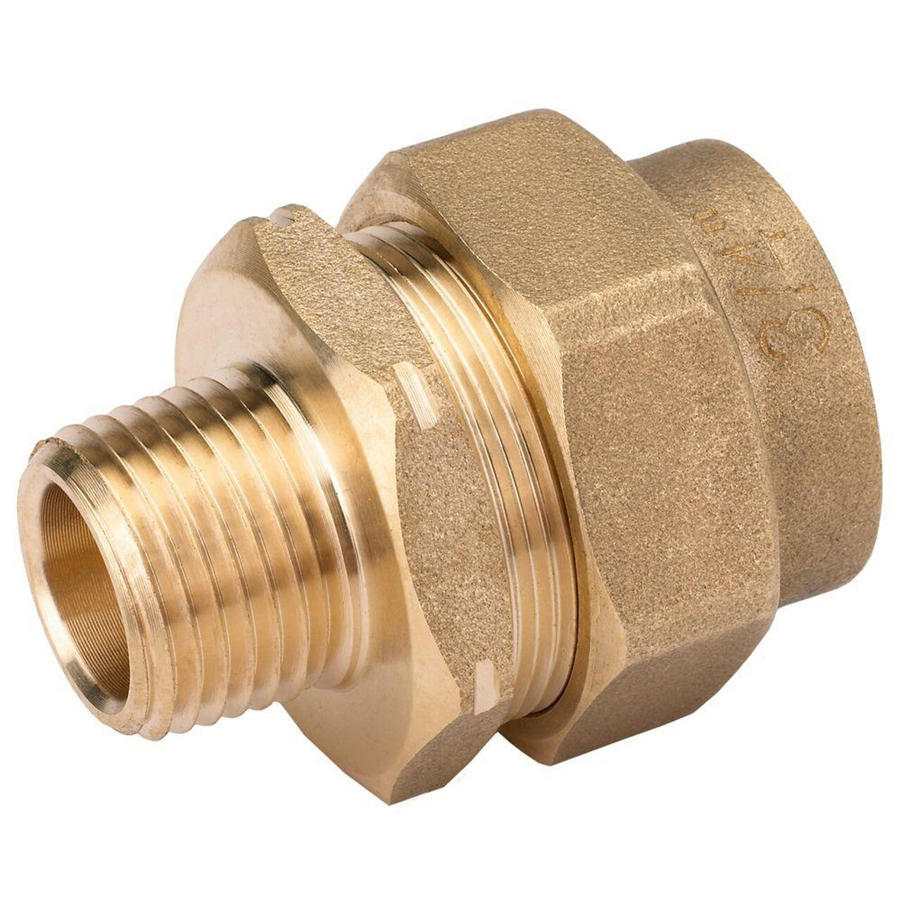 HomeFlex 11-429-101 3/4-Inch x 1/2-Inch Brass Corrugated Stainless Steel Tubing  x IPS Pipe Reducer