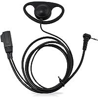 abcGoodefg D Shape Earpiece Headset PTT for Motorola Talkabout COBRA Two Way Radio Walkie Talkie 1pin