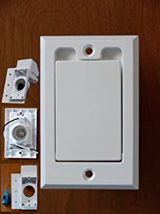 WHITE Standard Dual Voltage Direct Connect Central Vacuum Wall Valve Inlet