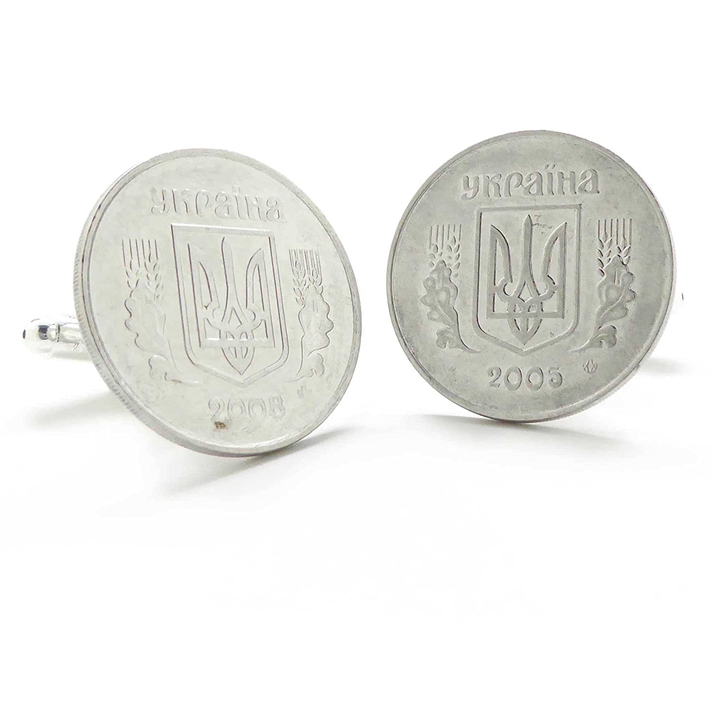 Ukraine Coin Cufflinks Cuff Links Eastern Europe Ukrainian Russia Kiev Kharkiv Williams Manufacturing