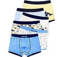 6 pezzi Ragazzi Boxer Misto Ragazzo Mutande Boxers Intimo Pantaloncini da bagno per bambini,1-11 anni
