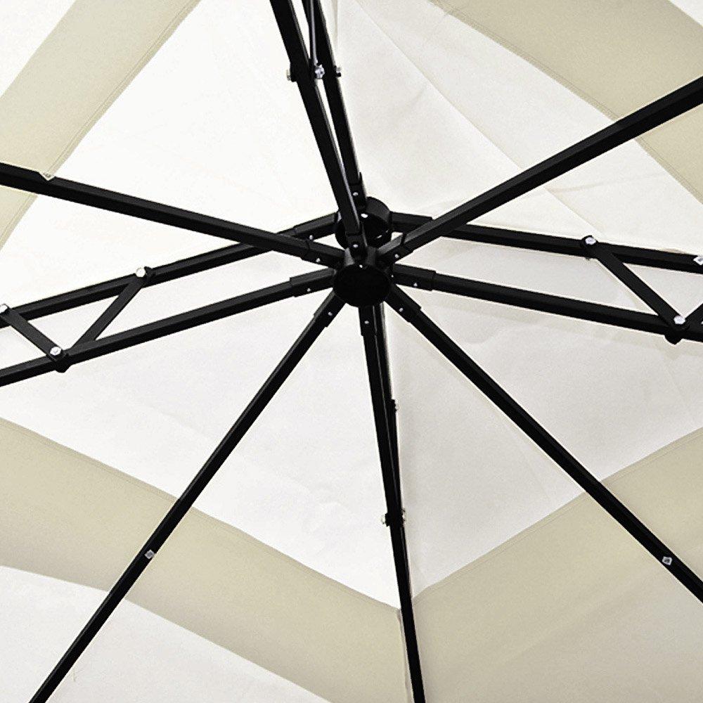Deuba® Pavillon 3x3m   wasserabweisend   UV-Schutz UV-Schutz UV-Schutz 50+   9m² Festzelt Gartenpavillon   Creme 73759a