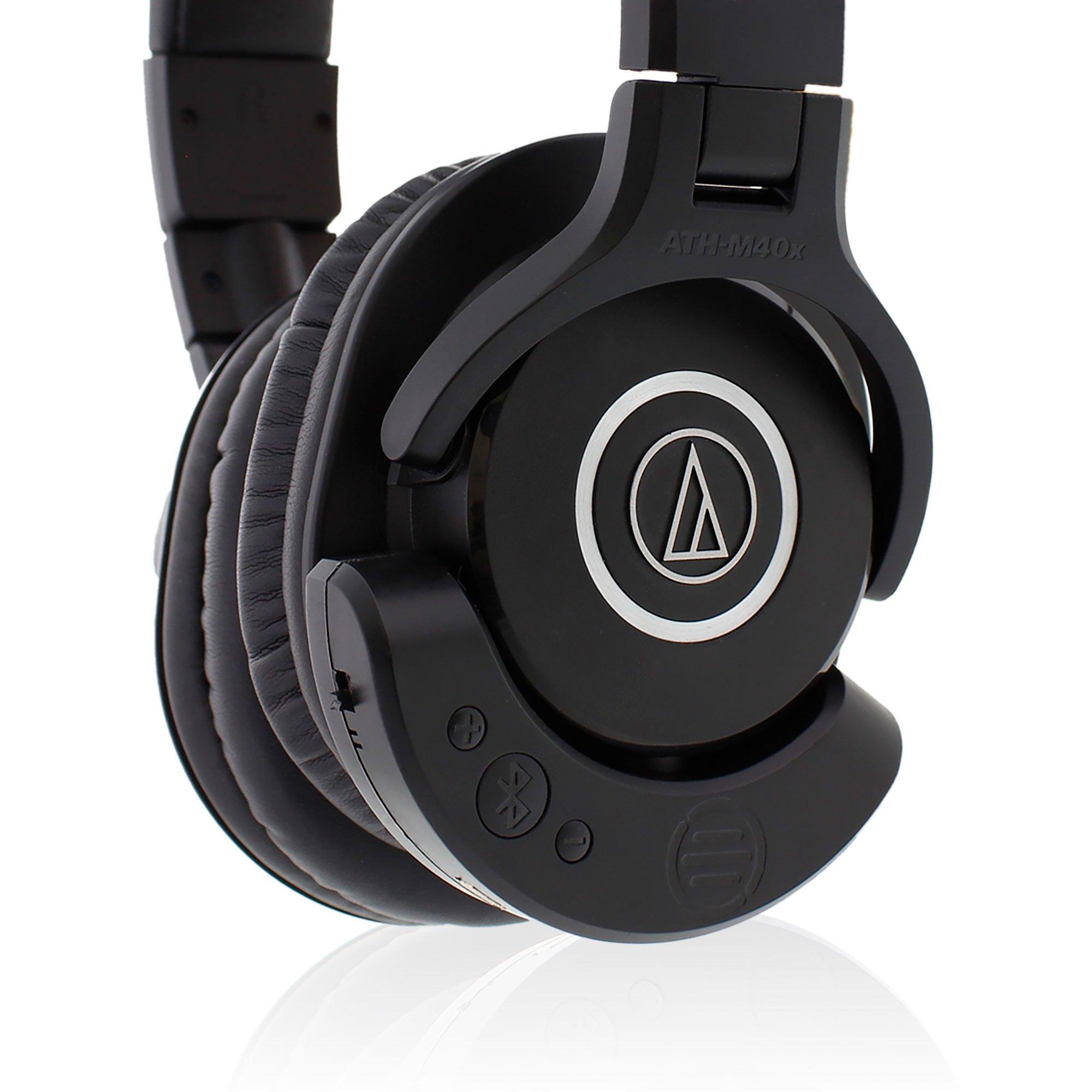 Audio Technica Ath M40x Professional Studio Monitor Headphones With Monitoring Headphone Bluetooth Adapter Amplifier Bal