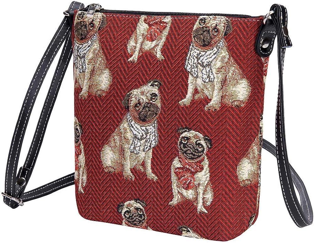 Cotton Long Handle Sling Bag I Love My Pug