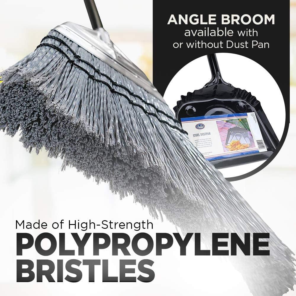 Fuller Brush Efficient Sweeping Angle Broom /& Metal Dustpan Set