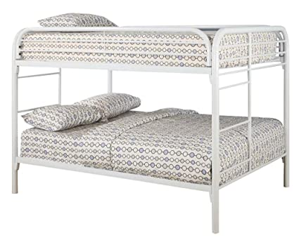 Amazon Com Coaster Full Full Bunk Bed Glossy White Kitchen Dining