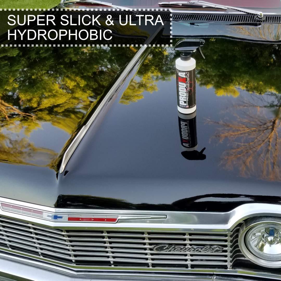 PRODUXA Premium Super Gloss & Ultra Hydrophobic Shine Spray: Revolutionary Paint Polish & Sealer | Multi-Surface Top Coat for Car, Bike & Boat | Applies in Minutes, Long Lasting | 1 Gallon/ 3.79L