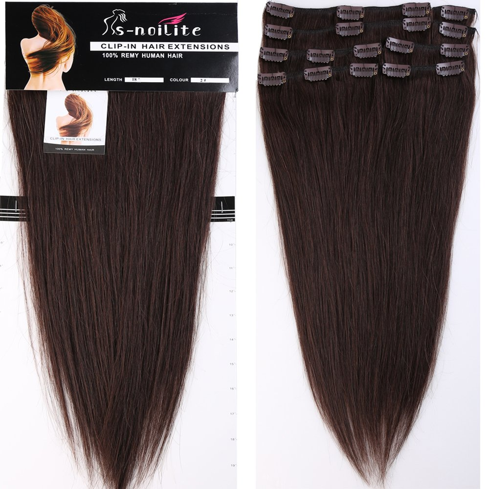 Amazon 22 Inch 110g Clip In Remy Human Hair Extensions Full