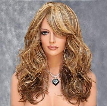 Srta Gao Pinzhi Europea y peluca pelo rizado productos de belleza de oro peluca de pelo