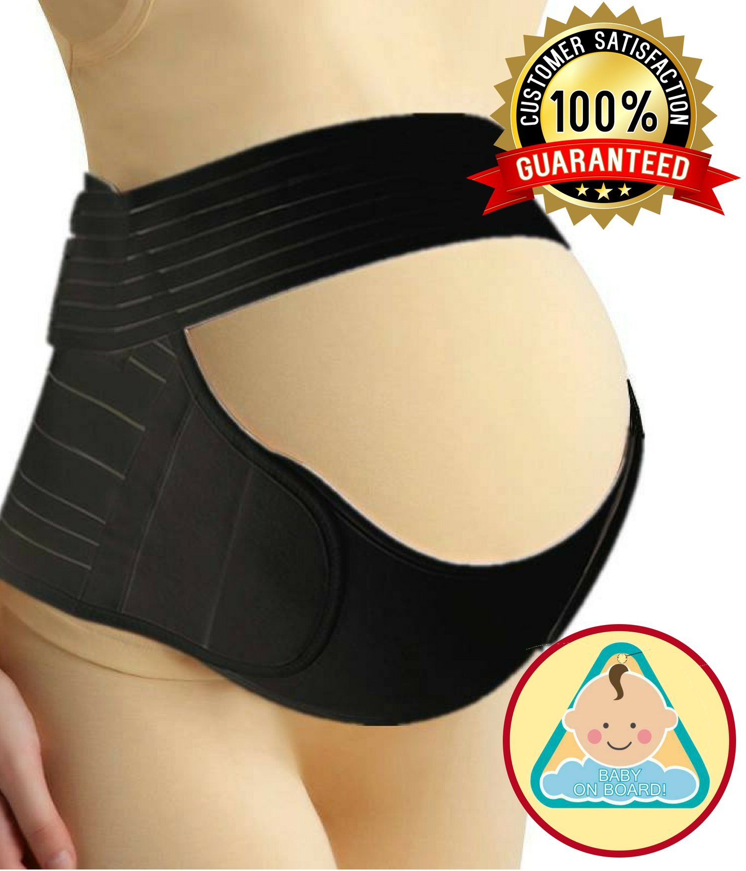 Maternity Belt (Up to 56 Inches) for Back, Pelvic, Hip, Abdomen, Sciatica Pain Relief 2nd-3rd Trimester | Adjustable Pregnancy Support Belly Band Baby Bump Brace (Plus Size)