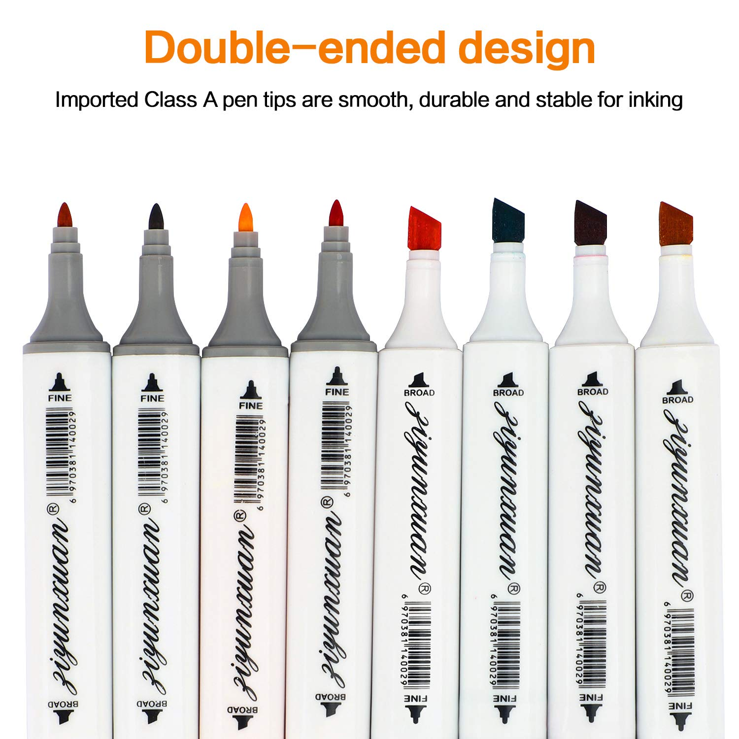 48 Color Alcohol Marker,Permanent Art Double-Tip Marker Color Brush,Large Ink Capacity,Most Practical Kid Adult Beginner Painting Set,Office Learning Marking,Card Production,Artistic Creation,Gift
