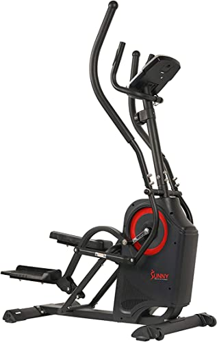 Sunny Health Fitness Premium Cardio Climber Stepping Elliptical Machine