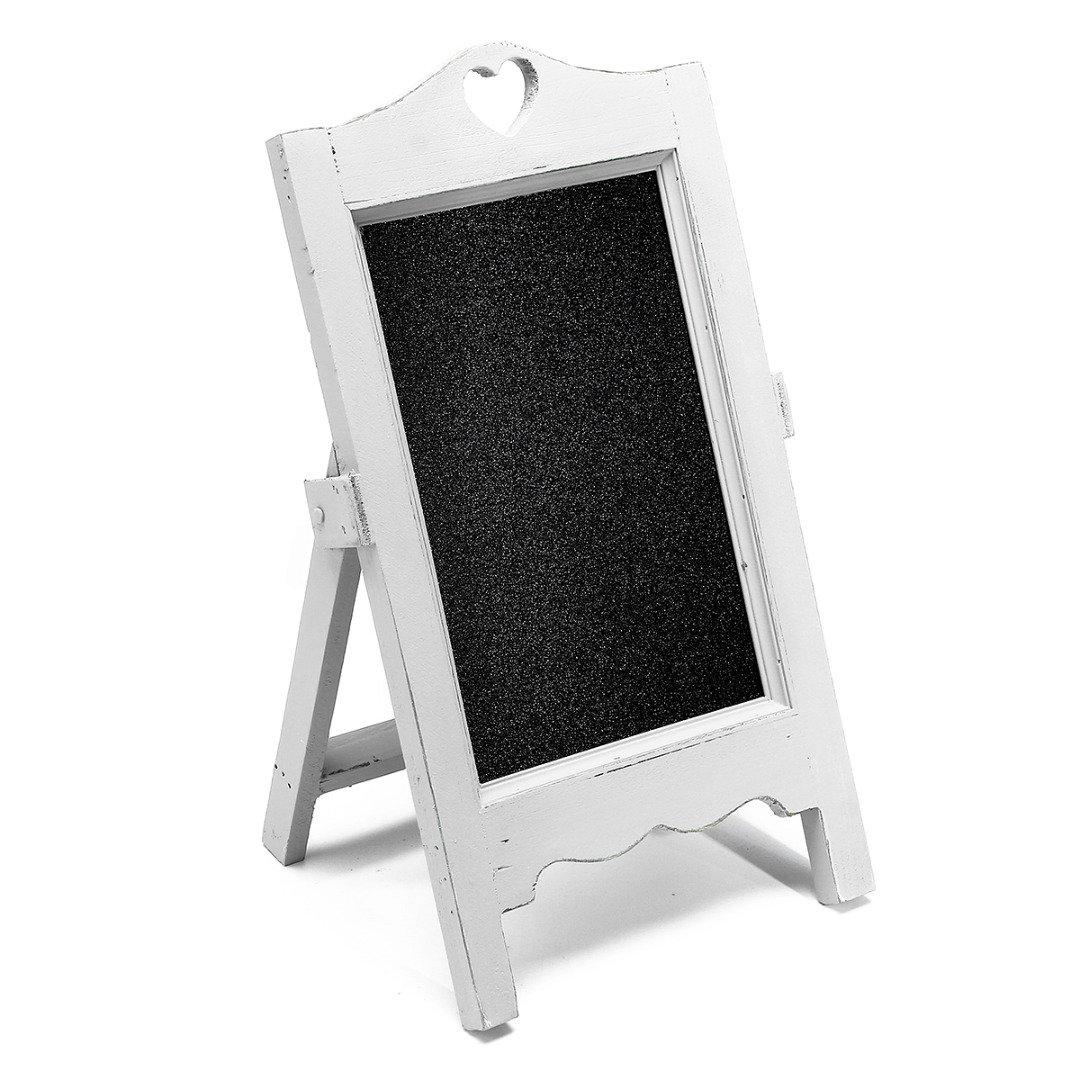 Vintage Mini Chalkboard Framed Blackboard Easel Wooden Standing Memo ...